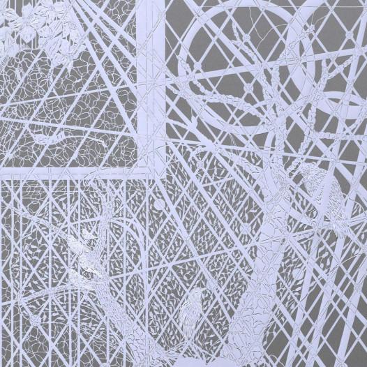 Magic Forest - Parrot, 2020, Papierschnitt, 90 x 113 cm