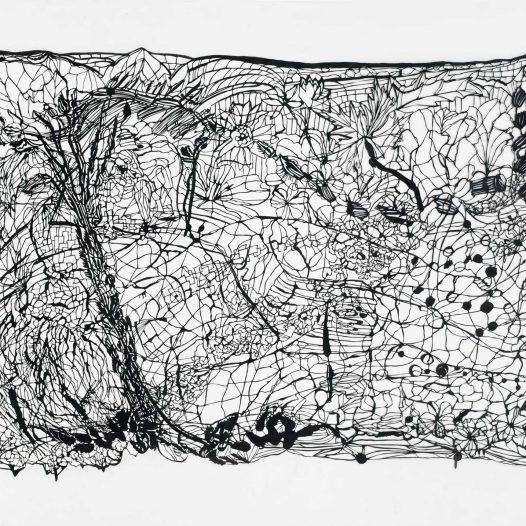 Lea, 2013, Tusche, Pergament, 86 x 120,5 cm