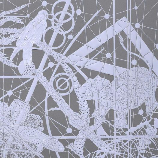 Magic Forest - Elephant, 2020, Papierschnitt, 90 x 113 cm