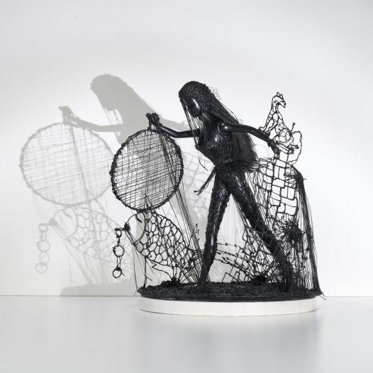 Black is Beautiful #3, 2018, Filament, 28 x 27 x 25 cm