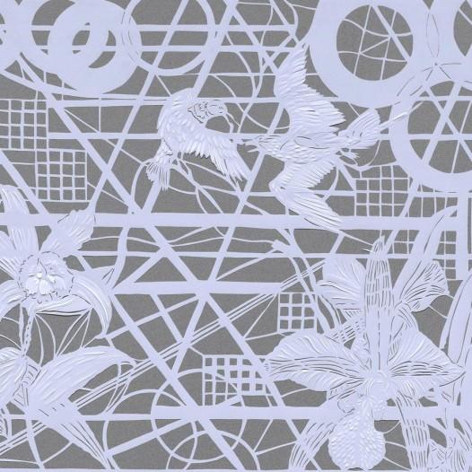 Magic Forest - Orchid, 2020, Papierschnitt, 50 x 60 cm