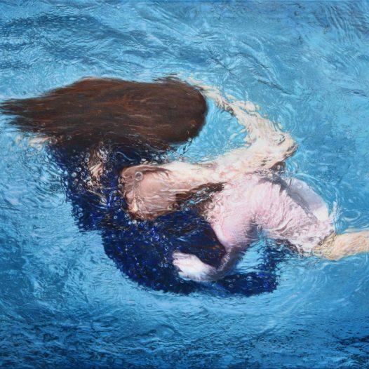 Katharina, 2019, Acryl und Pigmente auf Leinwand, 120 x 180 cm