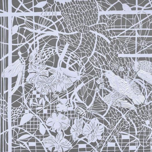 Magic Forest - Dragonfly, 2020, Papierschnitt, 50 x 60 cm