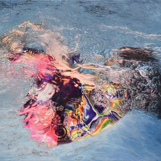 Carla III, 2019, Acryl und Pigmente auf Leinwand, 120 x 180 cm