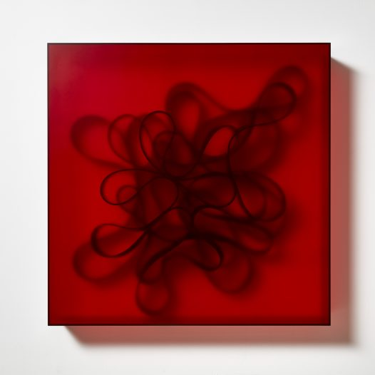 Ambient 1, 2018, 98 x 98 x 14 cm, Acrylglas, NBR