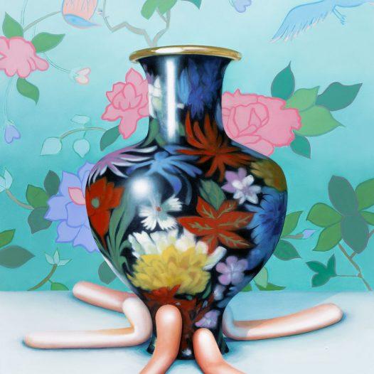 Asymmetrie, 2019, 100 x 80 cm, Acryl und Öl auf Leinwand