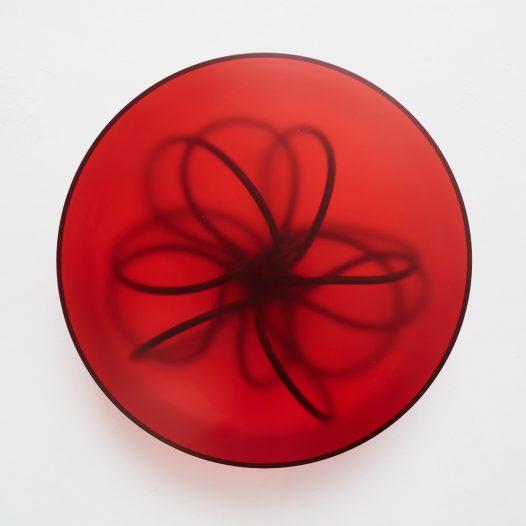Spukhafte Fernwirkung 1, 2018, Acrylglas,  Vinnylan, 50 x 14 cm