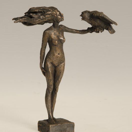 Der Schrei der Eule, 2015, Bronze, Ed. 9, 17,5 cm