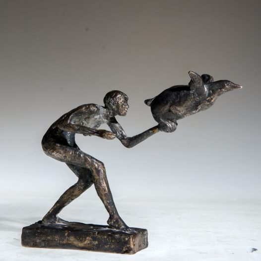 Flieg doch, 2012, Bronze, Ed. 9, Höhe 11,4 cm