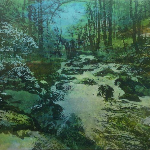 Flussbett, 2018, Öl auf Baumwolle, 160 x 200 cm