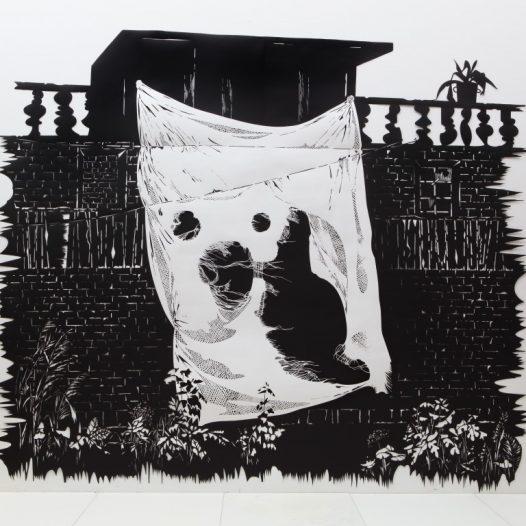 Ghost, 2017, Papierschnitt, 250 x 300 cm