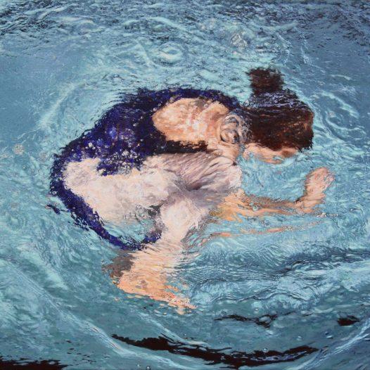 Helen, 2019, Acryl und Pigmente auf Leinwand, 120 x 85 cm