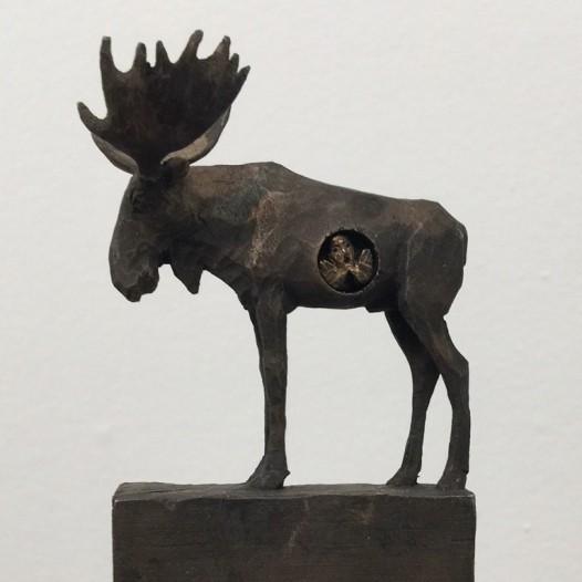 Elch, 2017, Bronze, Ed. 1/9, Höhe 20 cm