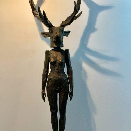 Hirschfrau, 2006/2016, Bronze, Ed 2/3, Höhe 300 cm