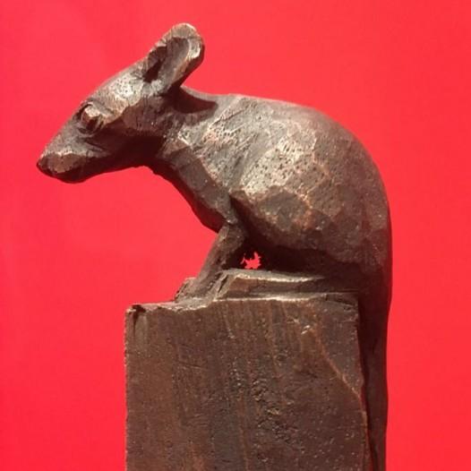 Maus, 2016, Bronze, Ed. 1/9, Höhe 17,5 cm