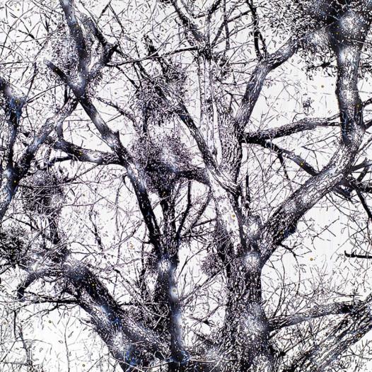 Zweig, 2016, 140 x 200 cm, Mischtechnik auf Leinwand