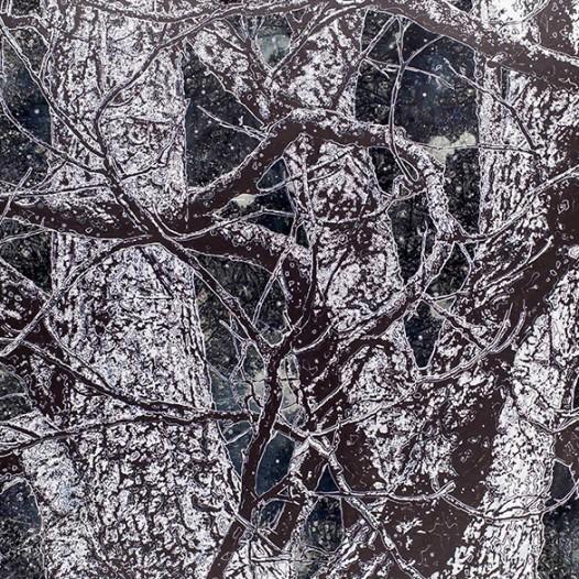 Nachtholz, 2015, 170 x 250 cm, Mischtechnik auf Leinwand