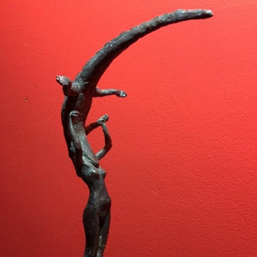 Kopf im Krokodil, 2014, Bronze, Ed. 2/9, Höhe 29,5 cm