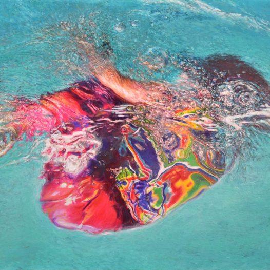 Carla IV, 2020, Acryl und Pigmente auf Leinwand, 80 x 120 cm