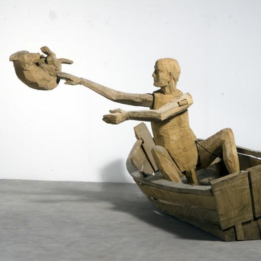 Noah, 2012, Eiche, 124 x 283 x 190 cm