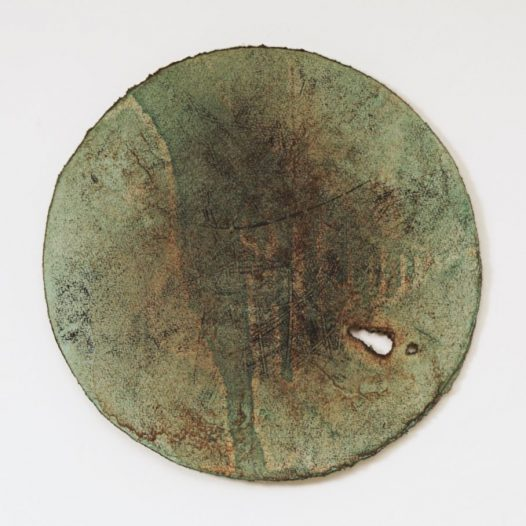 Planet 3, 2019, Bleistift, Graphit, Öl, gerissenes Papier, 30 x 30 cm
