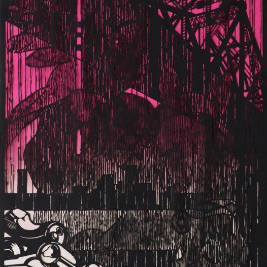 Erscheinung, 2017, Papierschnitt, 100 × 70 cm