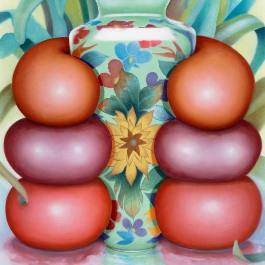 Symmetrie, 2019, 100 x 80 cm, Acryl und Öl auf Leinwand