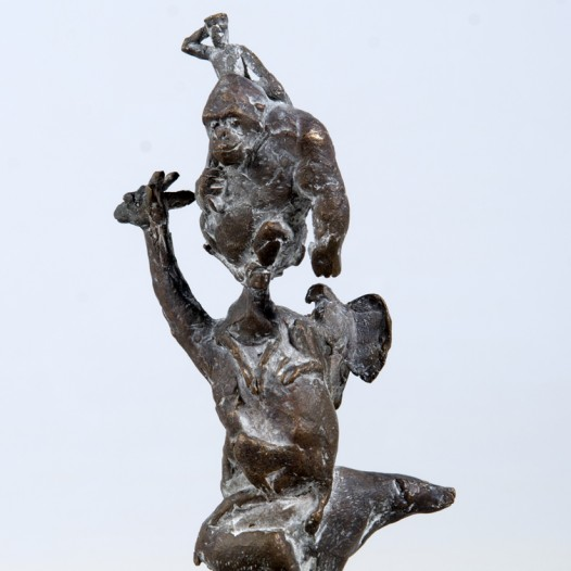 Tierturm, 2013, Bronze, Ed. 9, Höhe 18,5 cm