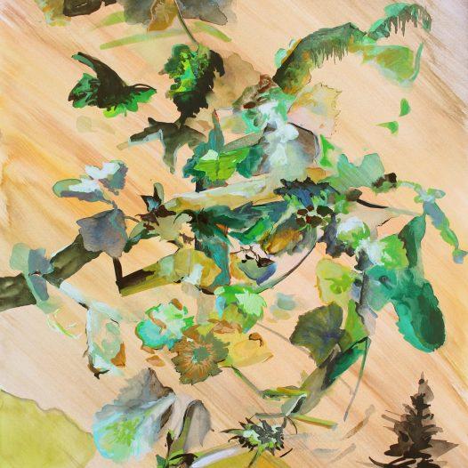 Triumphatoren 2, 2020, Aquarell auf Papier, 40 x 30 cm