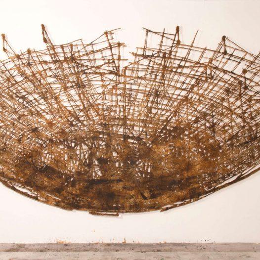 Ortung, 2020, 220 x 430 cm, Papier gerissen