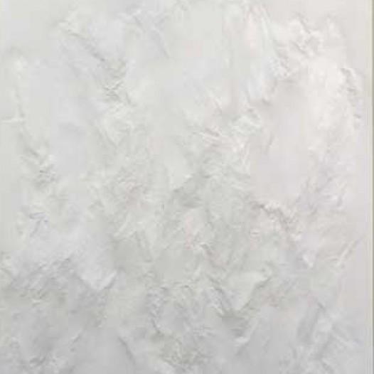 Weißes Blatt XXXXIV, 2009, 100 x 70 x 5 cm, Papier, mit Buchenkolben bearbeitet