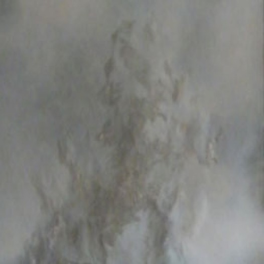 Weißes Blatt in Farbe 14-II, 2014, 240 x 105 x 8 cm, Papier, mit Buchenkolben bearbeitet