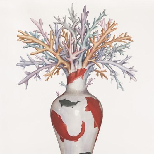 Institio 9, 2017, 76 x 56 cm, Aquarell auf Papier