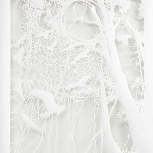 Brainstorming III, 2012, 250 x 150 cm, geschnittenes Papier