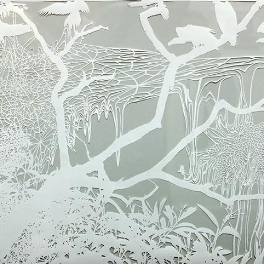 Frost I, 2008, 48 x 64 cm, geschnittenes Papier