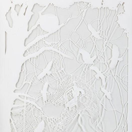 O.T. (Labyrinth), 2011, 250 x 150 cm, geschnittenes Papier