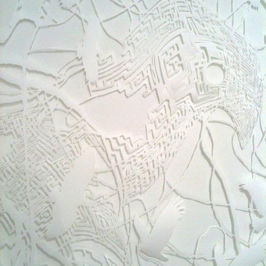 O.T. (Labyrinth), Detail, 2011, 250 x 150 cm, geschnittenes Papier