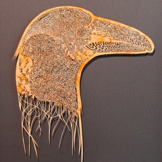 Metamorphoses 6, 2015, 51 x 28 cm, Schellack auf Papier