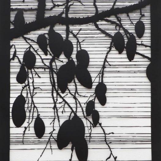 Fremde Früchte, 2016, Papierschnitt, 100 × 70 cm