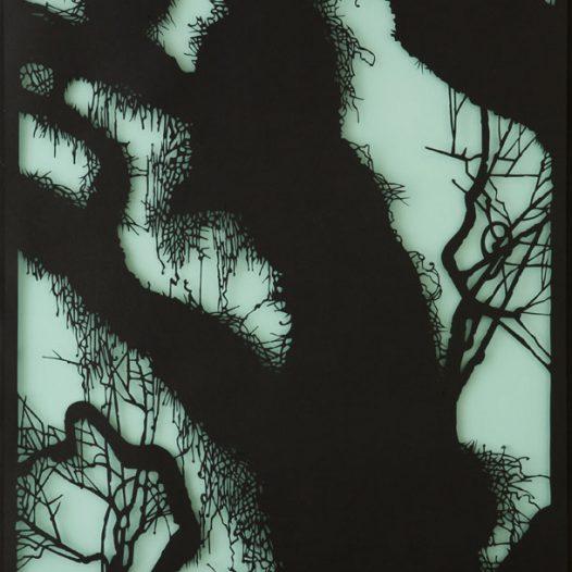 Dämmerung, 2016, Papierschnitt, 100 × 70 cm
