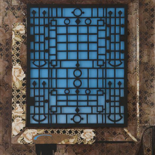 Nach draußen, 2015, Papierschnitt, 100 × 70 cm