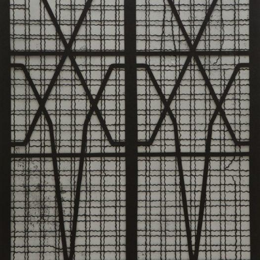 Vor dem Fenster, 2016, Papierschnitt, 100 × 70 cm