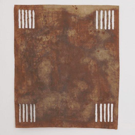 O.T. 1, 2008, Bleistift, Graphit, Öl, gerissenes Papier, 91 x 78 cm
