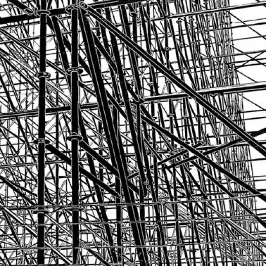 Struktur II, 2009, Linolschnitt, 58 x 78 cm, Edition 12