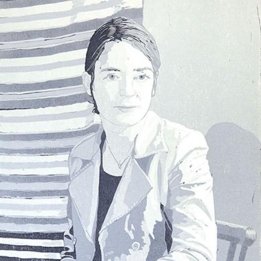 Sylvia, 2012, Linolschnitt, 52 x 40 cm