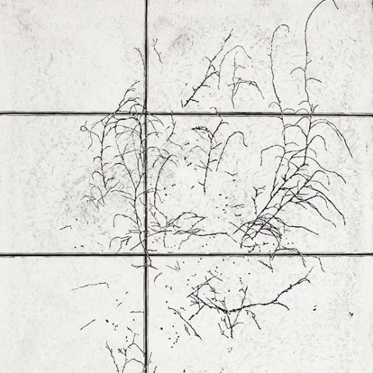 Verzweigung, 2015, Linolschnitt 2 Farben, 133 x 97 cm, Edition 1/5 + 2