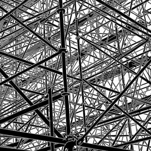 Struktur III, 2009, Linolschnitt, 58 x 78 cm, Edition 12