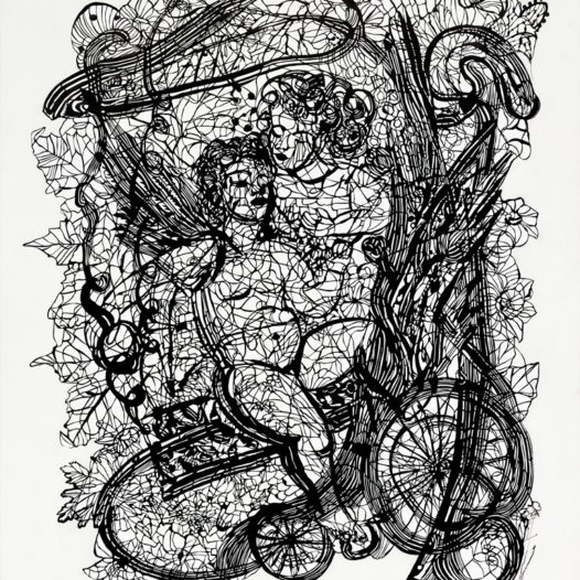 Ami we Tami, 2012, Papierschnitt schwarz, 113 x 90 cm