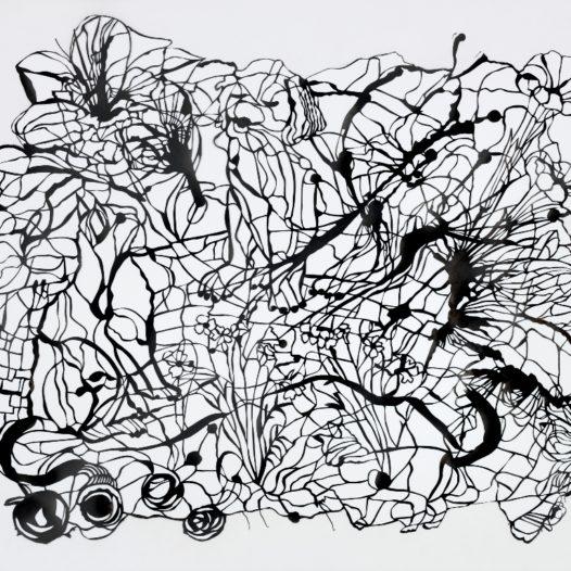 Garten, 2011, Papierschnitt schwarz, 48 x 56 cm