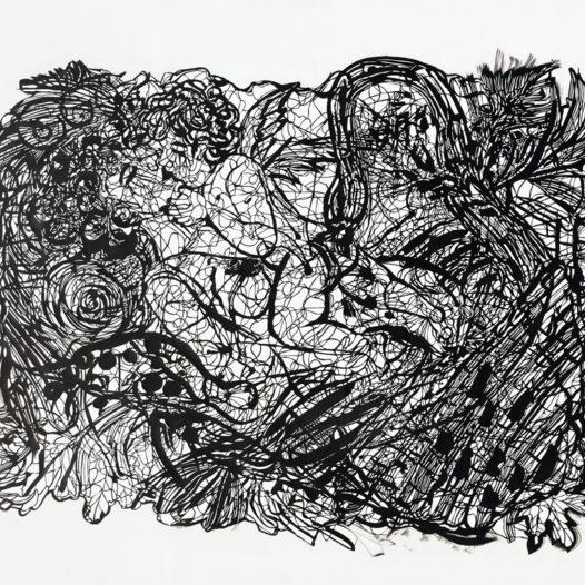 Neshika, 2012, Papierschnitt schwarz, 90 x 113 cm
